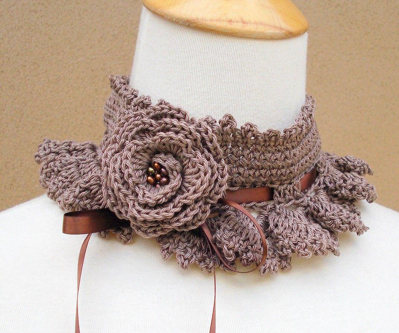 вязание воротника шарфа схемы и модели