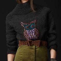 свитер с совой