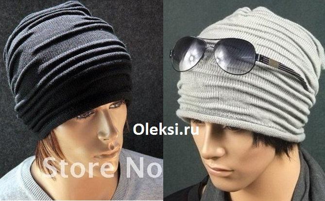 мужская шапка со складками