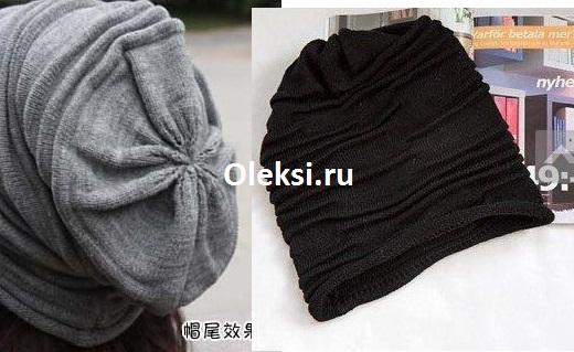 как делать убавления на шапке со складками