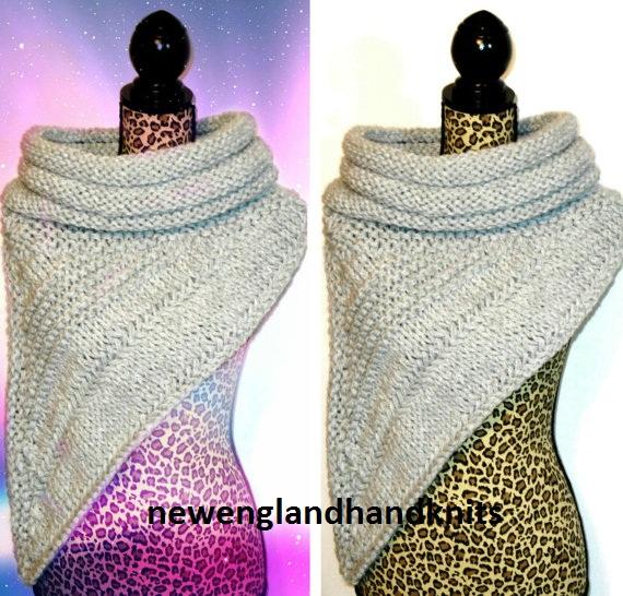 шарф китнисс связаный поперечной резинкой и лицевой гладью
