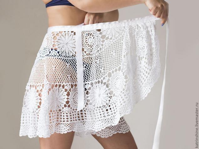 Вязаные пляжные юбки схемы