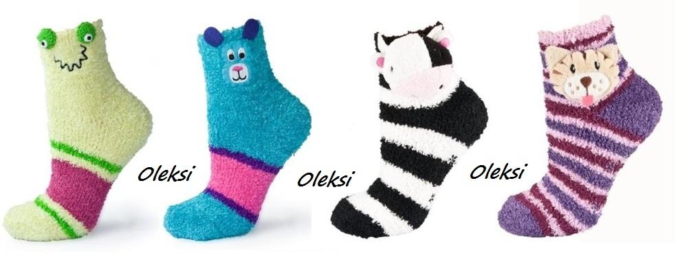 детские носочки из плюшевой пряжи