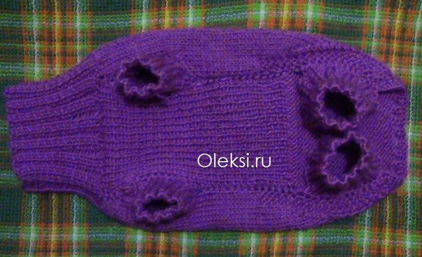 Вязание собачкам свитера на спицах 750