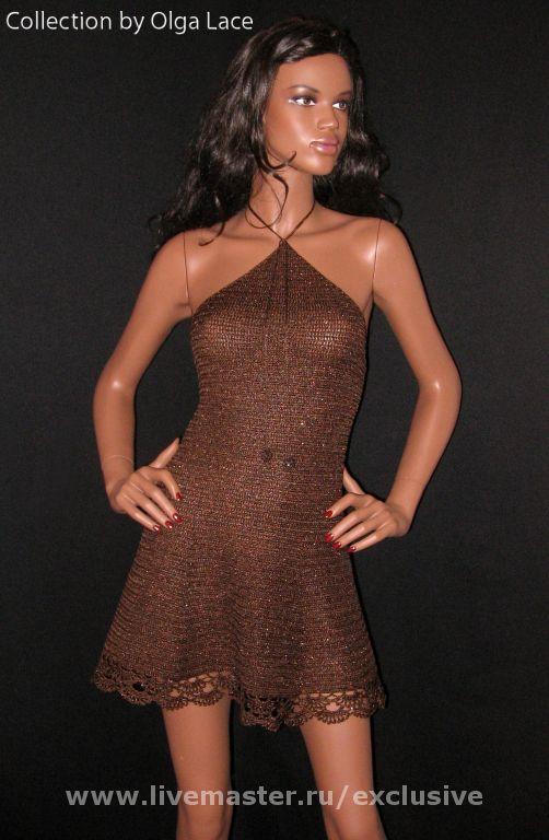 вязаное платье от olga lace