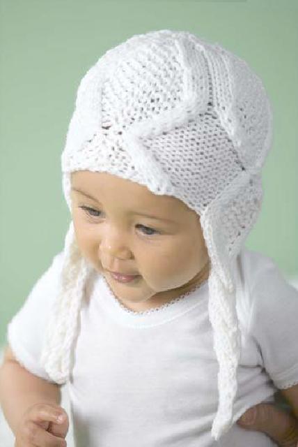 шапочка с аранами малышу