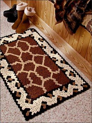 вязание ковриков крючком