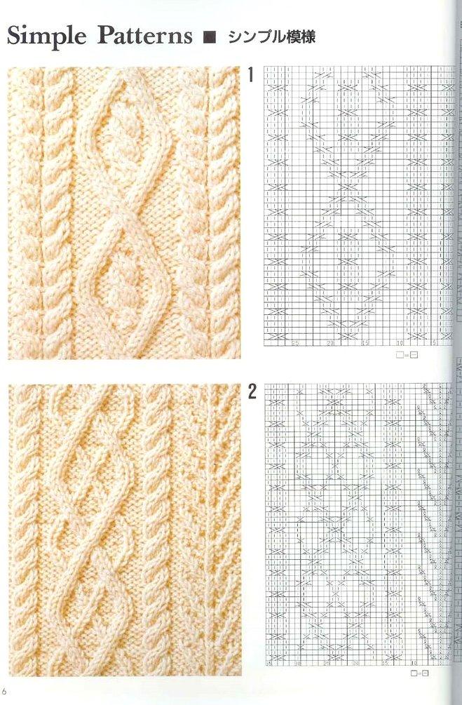Вязание араны узоры 73