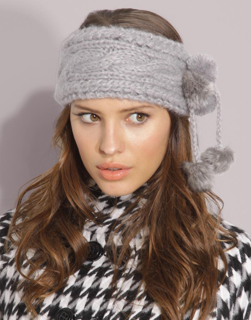 Вязание на спицах повязка на голову.