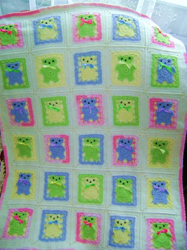 вязаное детское одеяло : Вязание на oleksi.ru