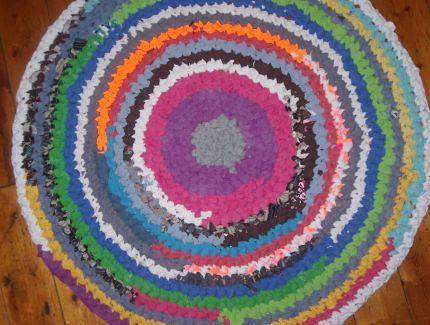 вязание лоскутных ковриков