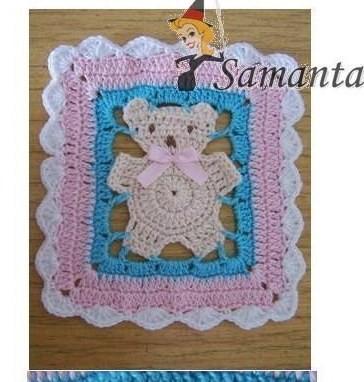 фрагмент вязаного одеяльца