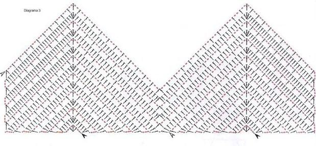 схема для вязания лифа топика