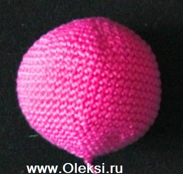 как связать шарик крючком--основа смешариков.