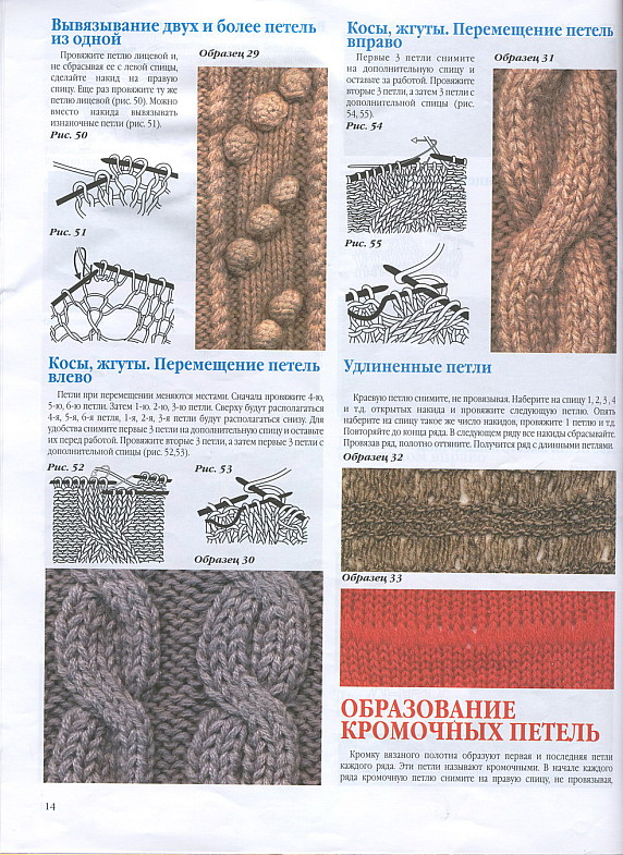 Узоры для вязания косы (косички) спицами.  Схемы.  Схема Узор вязать по схеме, на которой приведены лицевые и...