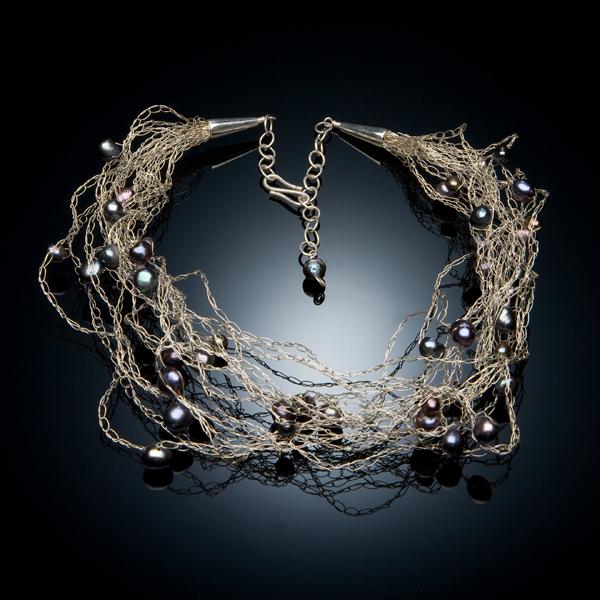 вязаное украшений из проволоки колье из простых воздушных петель