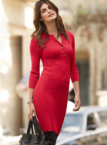 вязание спицами красное платье