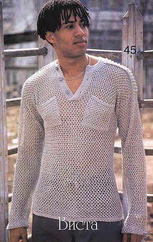 Вязание крючком кофты мужские