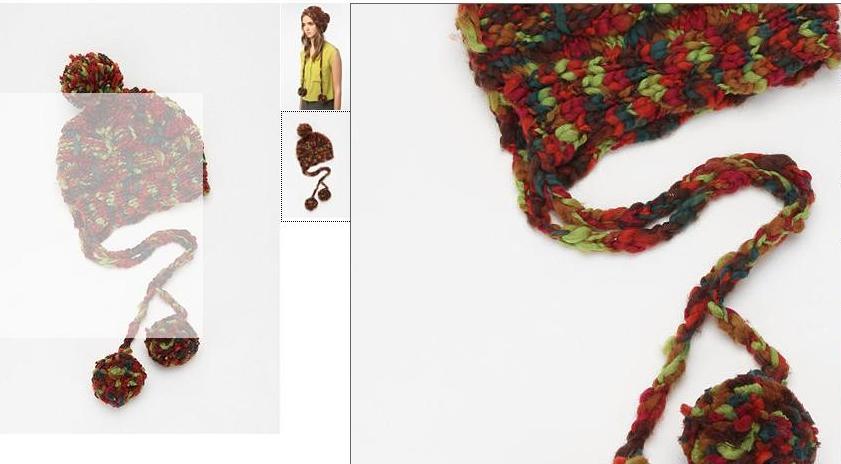 модная вязаная шапка 2012 вид сзади