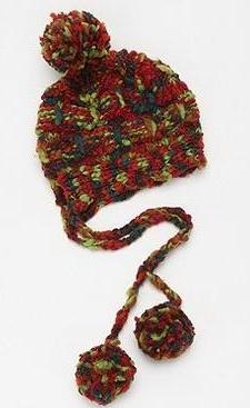 модная вязаная шапка 2012 меланж