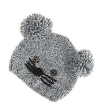 модная вязаная шапка котенок