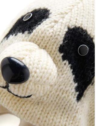 Комментарий: шапка панда. схема вязания шапки панды.