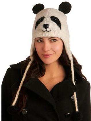 Шапочка-Панда спицами.