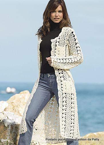 схема для вязания пальто