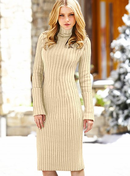 вязаное платье от виктории