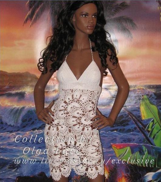 красивые платья вязанные крючком фото и схемы.