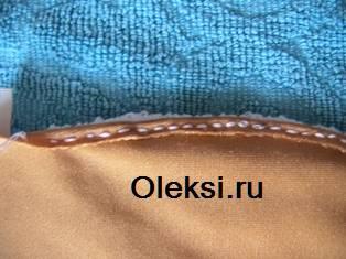 как пришить подкладкук вязаному купальнику