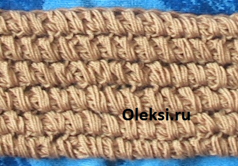 узор поперечная резинка из вытянутых петель