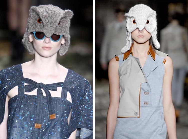 шапка сова от дизайнера хелен родел