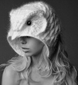 шапка сова спицами