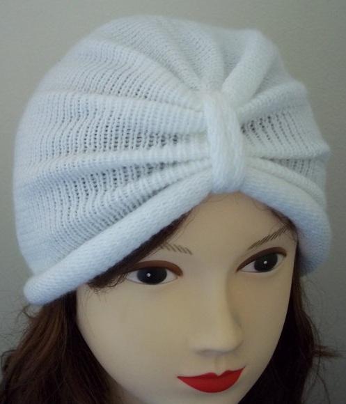 шапка тюрбан белая с сайта etsy