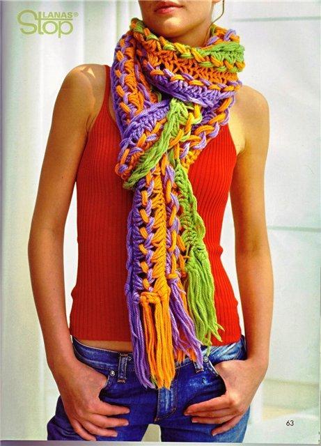 видео как связать шарф