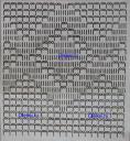 схема вязания топа в филейной технике верх