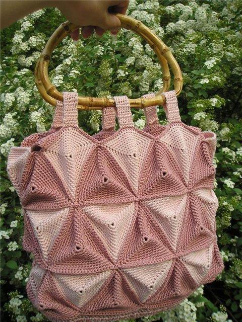 очень стильная вязаная сумочка - Вязаные сумки - Ю.