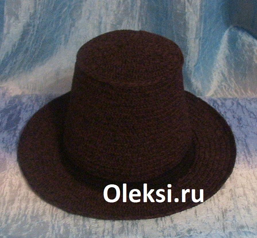 вязаная мужская шляпа