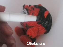 прокрашивания волос вязаной тигриции